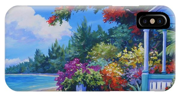 Bougainvillea iPhone Case - Summer Colours 20x16 by John Clark