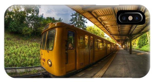 Summer Eveing Train. IPhone Case