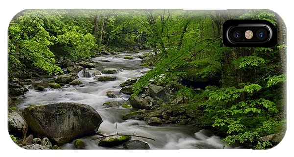 Summer Stream In Great Smoky Mountains  Phone Case by Darrell Young