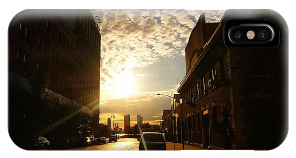 City Sunset iPhone Case - Summer Sunset Over A Cobblestone Street - New York City by Vivienne Gucwa