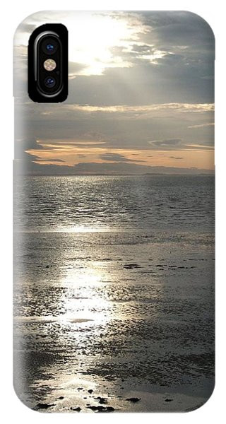 Sun Setting Over Spurn Point IPhone Case