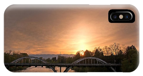 Sunburst Sunset Over Caveman Bridge IPhone Case