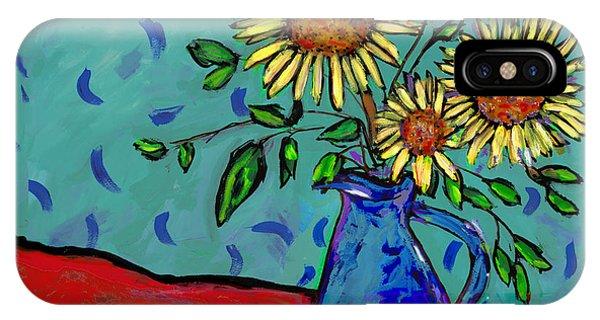 Sunflowers In A Milk Pitcher IPhone Case