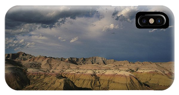 North Dakota Badlands iPhone Case - Sunlight Reveals Layers Of Yellow by Annie Griffiths