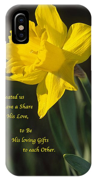 Sunny Daffodil With Quote IPhone Case