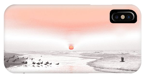 Pastel Sunrise Beach IPhone Case