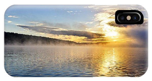 Sunrise iPhone Case - Sunrise On Foggy Lake by Elena Elisseeva