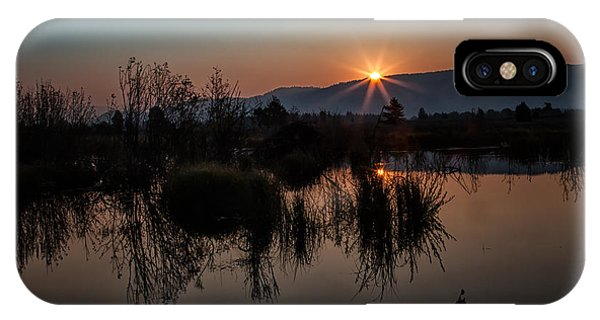 Sunrise Over The Beaver Pond IPhone Case