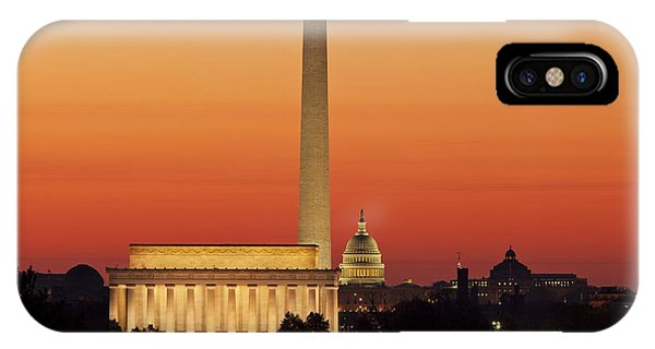 Lincoln Memorial iPhone Case - Sunrise Over Washington Dc by Brian Jannsen