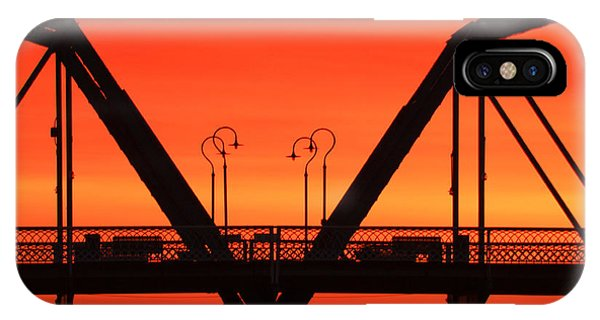 Sunrise Walnut Street Bridge IPhone Case
