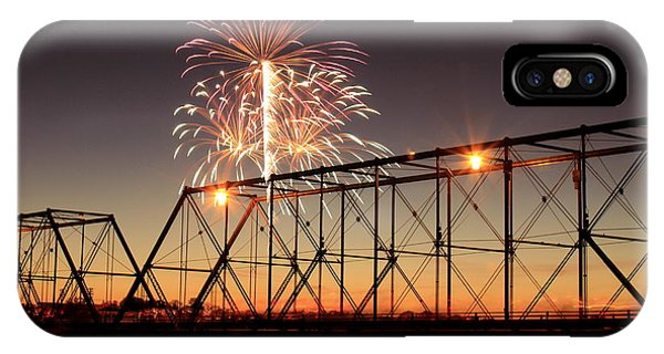 Sunset And Fireworks IPhone Case