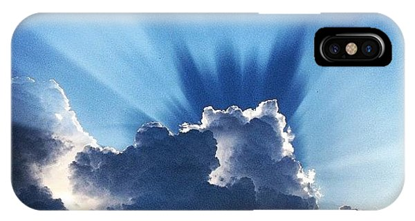 Cloud iPhone Case - #sunset #clouds #weather #rays #light by Amber Flowers