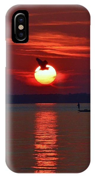 Sunset Fishing IPhone Case
