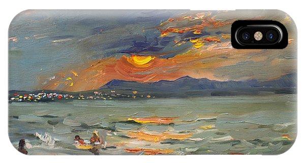 Shore iPhone Case - Sunset In Aegean Sea by Ylli Haruni