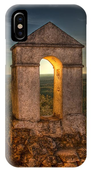 Sunset In Monfrague Castle IPhone Case