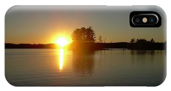 Sunset Juggler Lake Island IPhone Case