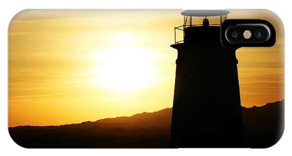 Lake Havasu Sunset Lighthouse IPhone Case