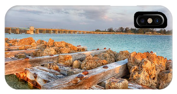 Sunset Longboat Pass Bridge  Phone Case by Jenny Ellen Photography