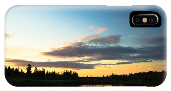 Sunset On A Lake IPhone Case