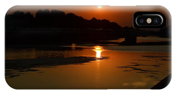 Sunset On The Arno River IPhone Case