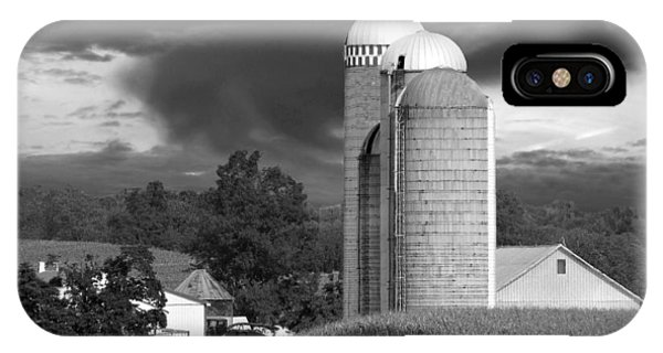 Sunset On The Farm Bw IPhone Case