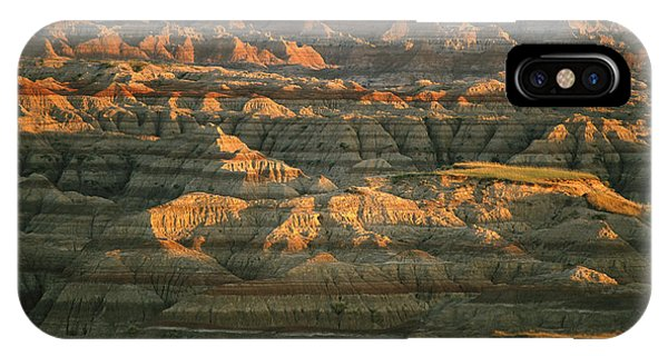 North Dakota Badlands iPhone Case - Sunset On The Geological Formations by Annie Griffiths