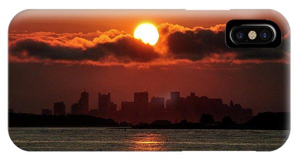 Sunset Over Boston IPhone Case