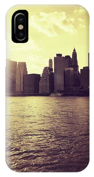 Sunset Over Manhattan IPhone Case