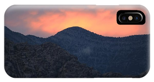 Sunset Over Red Rock IPhone Case