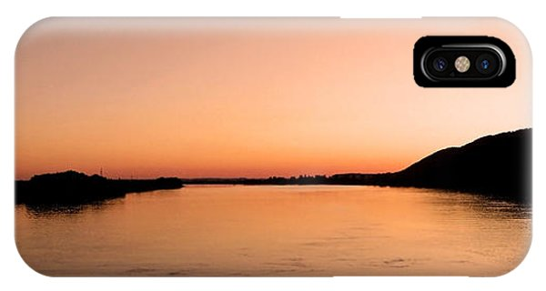 Sonne iPhone Case - Sunset Over The Danube ... by Juergen Weiss