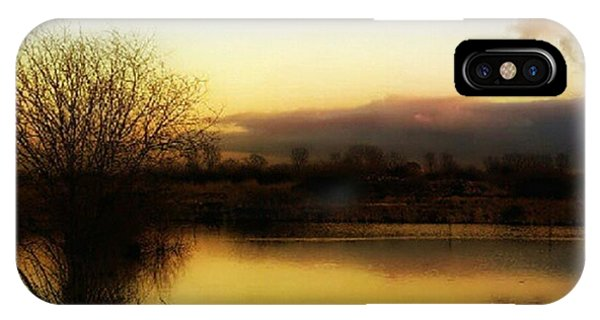 View iPhone Case - Sunset Over The Lake by Abbie Shores