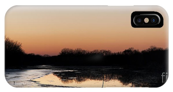 Sunset Over The Republican River IPhone Case