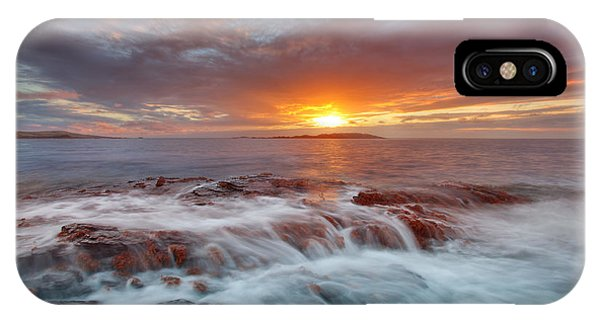 Sunset Tides - Cemlyn IPhone Case