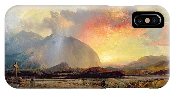 Old Rugged Cross iPhone Case - Sunset Vespers At The Old Rugged Cross by Thomas Moran