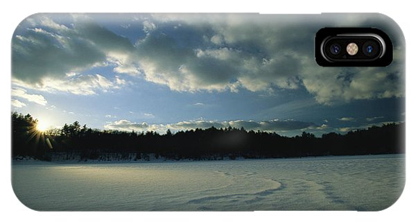 Sunset Viewed From The Frozen Surface IPhone Case