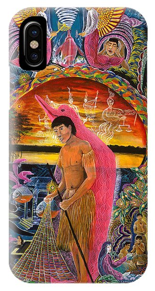 IPhone Case featuring the painting Supai Pucabufeo by Pablo Amaringo