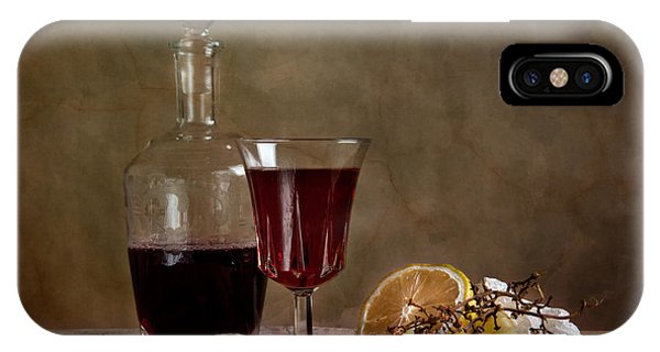 Dinner iPhone Case - Supper With Wine by Nailia Schwarz