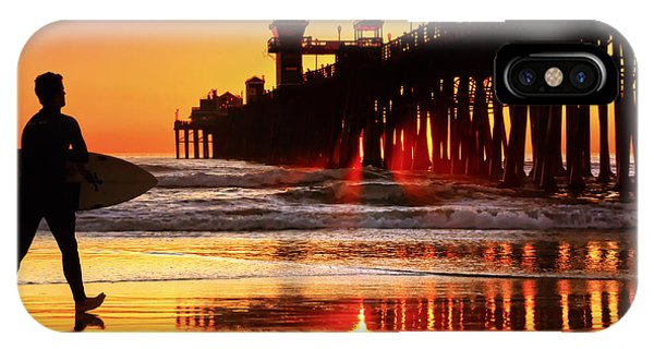 Surf Session At Sunset Phone Case by Donna Pagakis