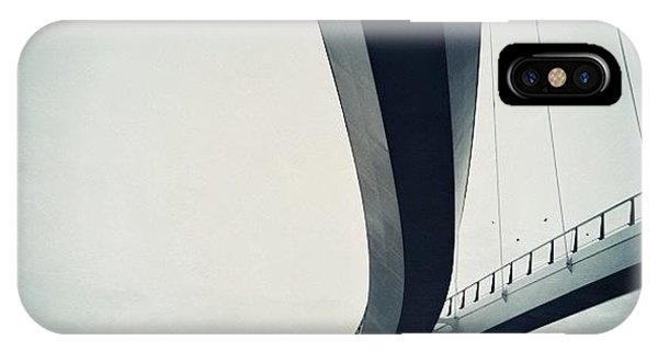 Artwork iPhone Case - Suspended #bridge For Cylists And by Robbert Ter Weijden