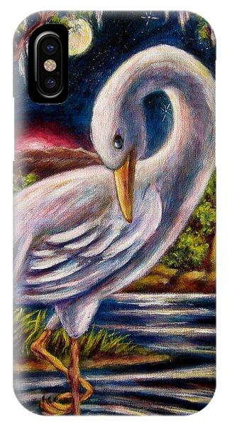 Swamp Crane IPhone Case