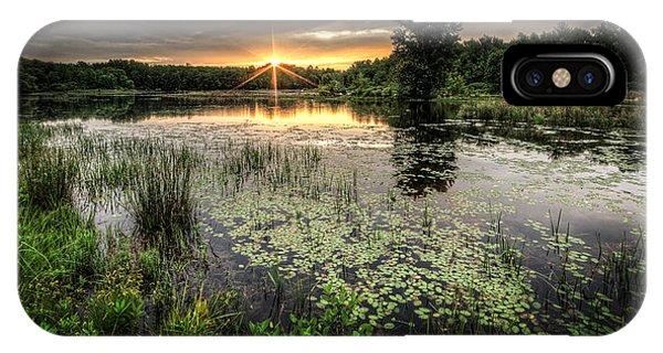 Sunrise iPhone Case - Swamp Sunrise by Everet Regal