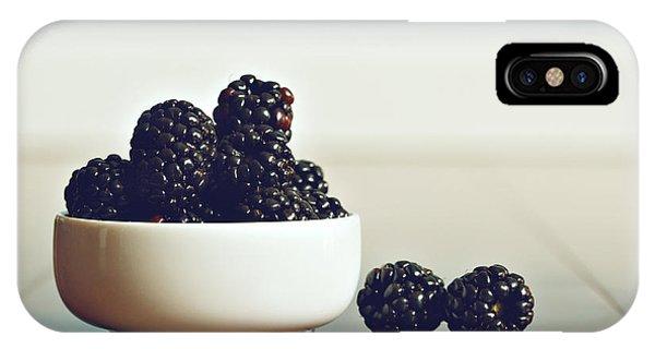 Sweet Blackberries Phone Case by Amelia Matarazzo
