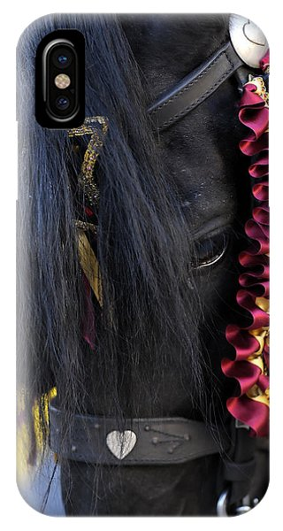 sweetheart - a Menorca race horse with traditional multicolor ribbons and mirror star IPhone Case