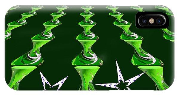 Swirly Green Links Phone Case by Jeannie Atwater Jordan Allen