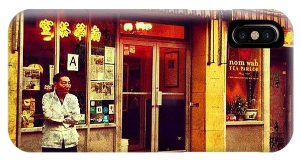 Taking A Break In Chinatown IPhone Case