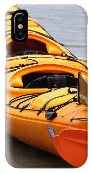 Tandem Yellow Kayak IPhone Case