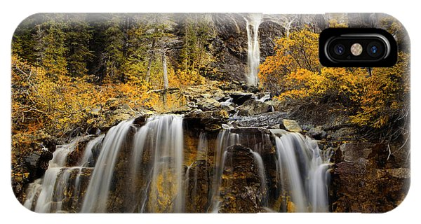Tangle Falls, Jasper National Park IPhone Case
