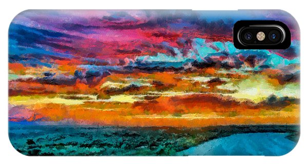 Taos Sunset Iv Wc IPhone Case