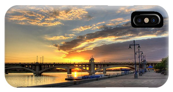 Tempe Town Lake Sunrise IPhone Case