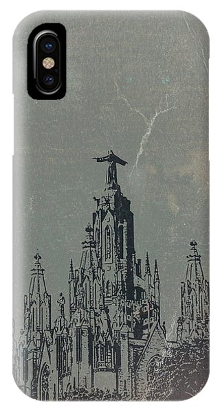 Temple iPhone Case - Temple Expiatory by Naxart Studio